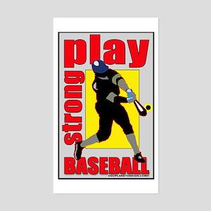 Baseball Play Strong Rectangle Sticker