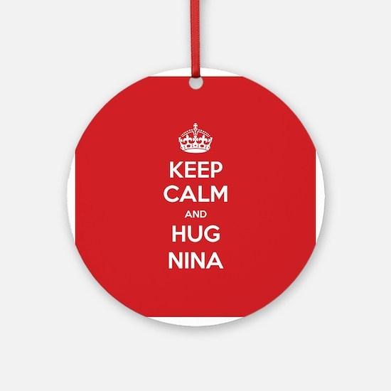 Hug Nina Ornament (Round)