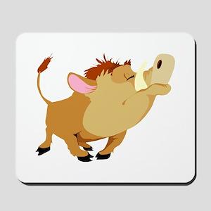 Funny Stubborn Wild Boar Mousepad