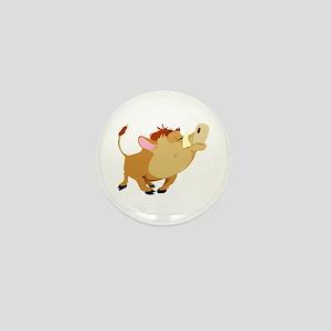 Funny Stubborn Wild Boar Mini Button