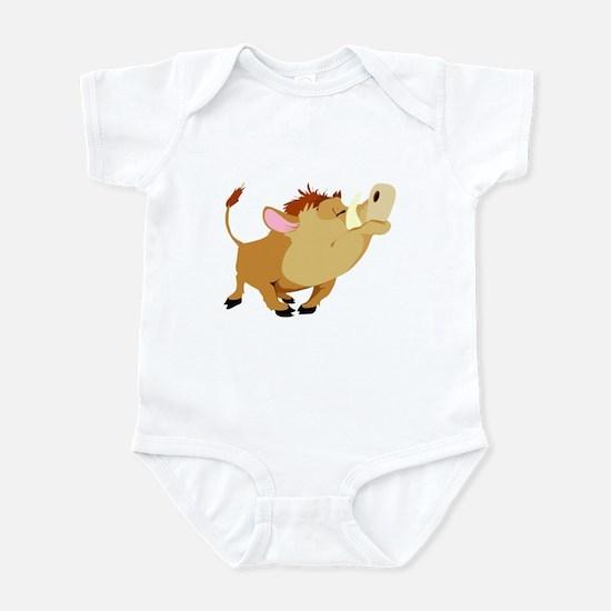 Funny Stubborn Wild Boar Infant Bodysuit