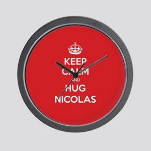 Hug Nicolas Wall Clock