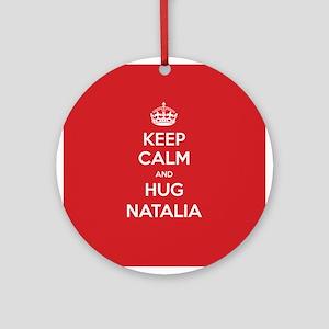 Hug Natalia Ornament (Round)