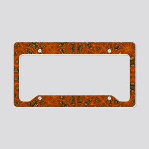 Abstract Art Labyrinth License Plate Holder