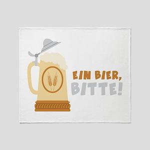 EIN BIER, BITTE! Throw Blanket