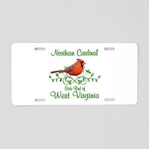 Cardinal West Virginia Bird Aluminum License Plate