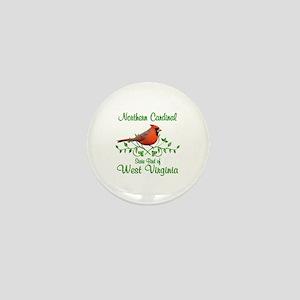 Cardinal West Virginia Bird Mini Button