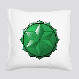 The Heart Chakra Square Canvas Pillow