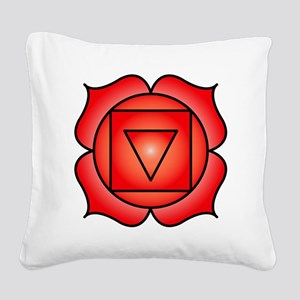 The Root Chakra Square Canvas Pillow