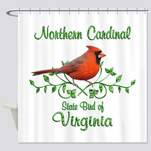 Cardinal Virginia Bird Shower Curtain