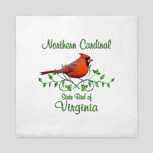 Cardinal Virginia Bird Queen Duvet