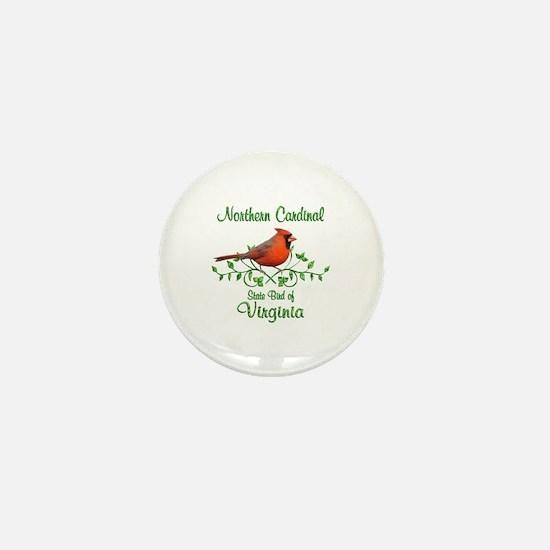 Cardinal Virginia Bird Mini Button