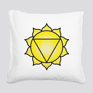 The Solar Plexus Chakra Square Canvas Pillow