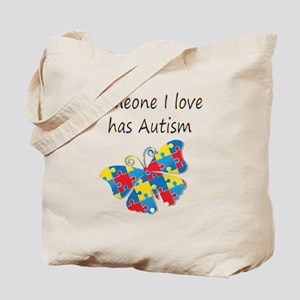 Someone I love has Autism (multi) Tote Bag