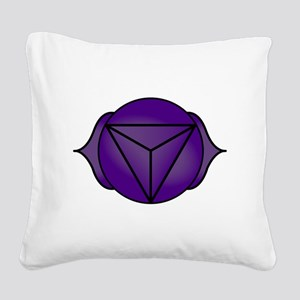 The Third Eye Chakra Square Canvas Pillow