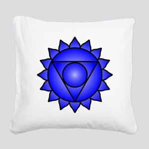 The Throat Chakra Square Canvas Pillow