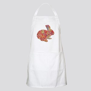 Colorful Floral Easter Bunny Apron
