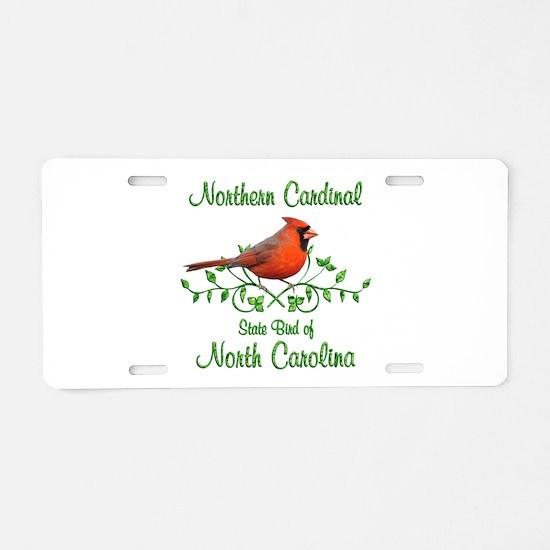 Cardinal North Carolina Bir Aluminum License Plate
