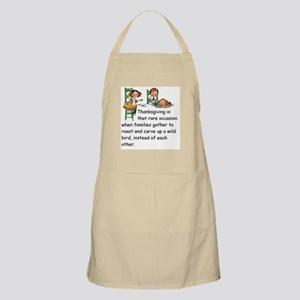 Thanksgiving is that rare occasion ... carve Apron