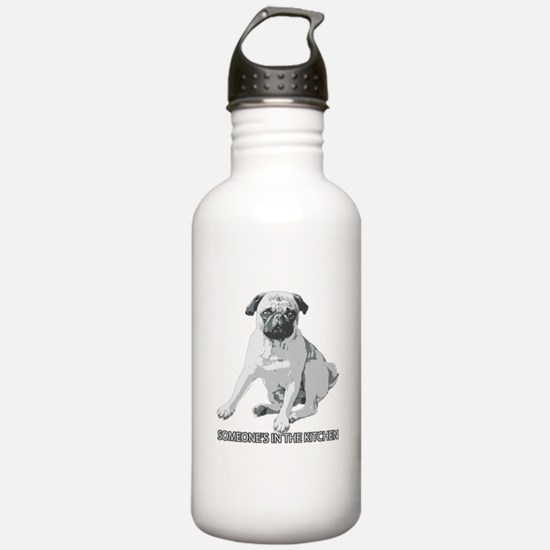 Pug Alert Water Bottle