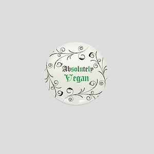 Absolutely Vegan Swirls Mini Button