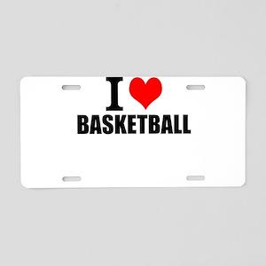 I Love Basketball Aluminum License Plate