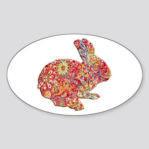 Colorful Floral Easter Bunny Sticker