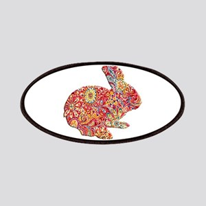 Colorful Floral Easter Bunny Patches