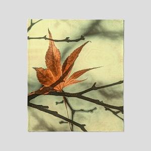 zen autumn maple leaves fall landsca Throw Blanket