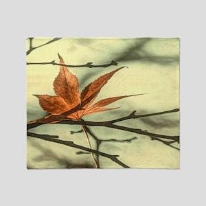 autumn maple leaves fall landscape Throw Blanket