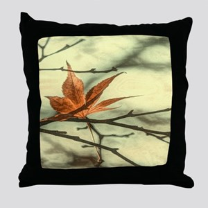 autumn maple leaves fall landscape Throw Pillow