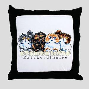 Persian Lover Extraordinaire Throw Pillow