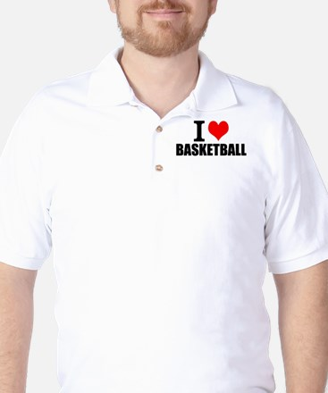 I Love Basketball Golf Shirt