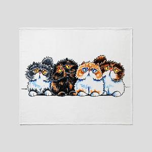Exotic Foursome Throw Blanket