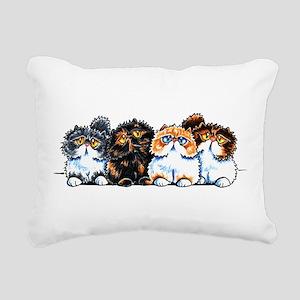 Exotic Foursome Rectangular Canvas Pillow