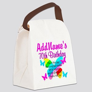 BLESSED 70TH Canvas Lunch Bag