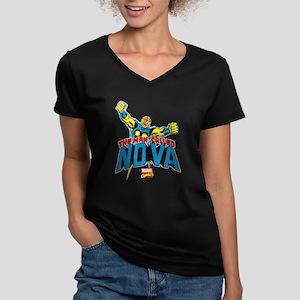 The Man Called Nova Women's V-Neck Dark T-Shirt