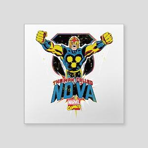 "Vintage Nova Square Sticker 3"" x 3"""