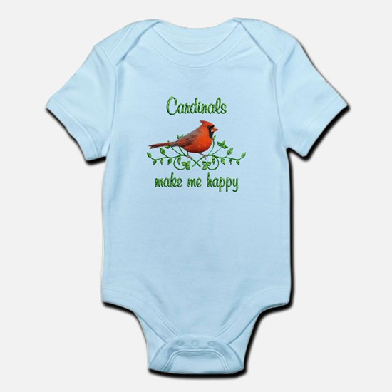 Cardinals Make Me Happy Infant Bodysuit