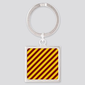 Maroon and Gold Striped Keychains