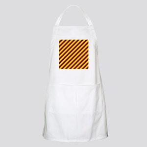 Maroon and Gold Striped Apron