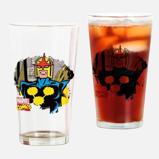 Nova Comic Drinking Glass