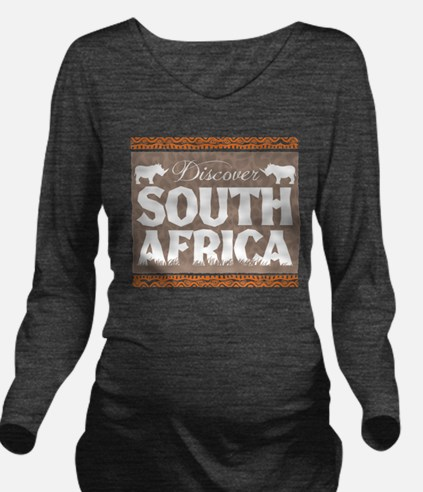 Discover South Africa Long Sleeve Maternity T-Shir
