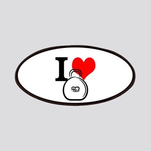 I Heart Kettlebell Patches