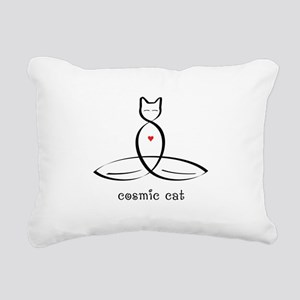 Cat Meditator - Cosmic C Rectangular Canvas Pillow