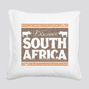 Discover South Africa Square Canvas Pillow