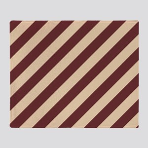 Brown and Cream Striped Throw Blanket