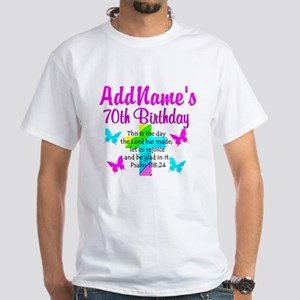 70TH PRAISE GOD White T-Shirt