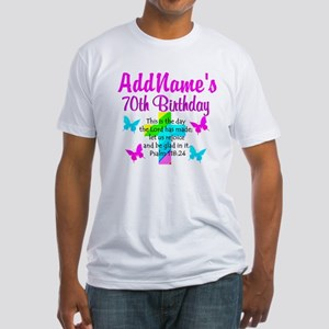 70TH PRAISE GOD Fitted T-Shirt