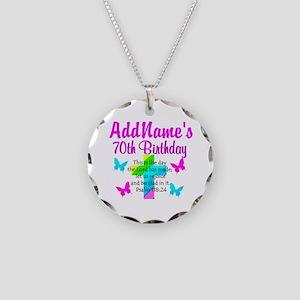 70TH PRAISE GOD Necklace Circle Charm